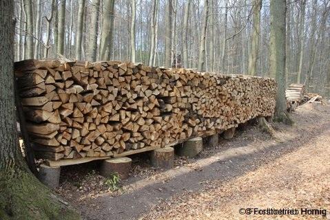 Gestapeltes meterholz
